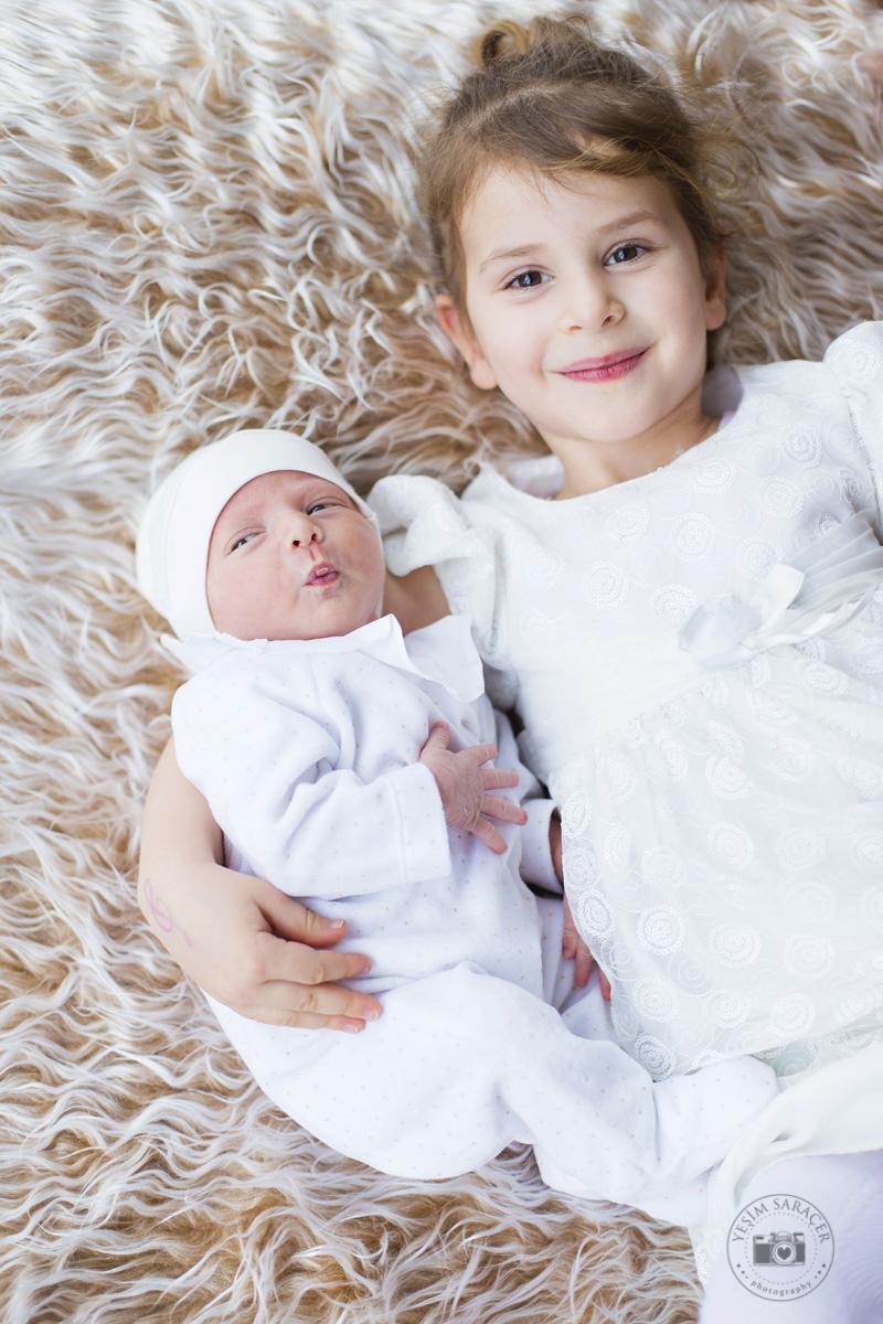 newborn kardeş ve aile çekimleri